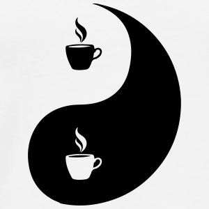 Coffee Ying Yang Cute Java Love Shirts Bottles & Mugs - Men's Premium T-Shirt