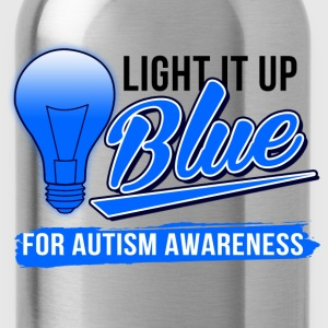 light_it_up_blue T-Shirts - Water Bottle