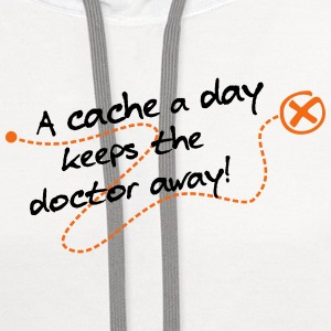 geocaching -  a cache a day keeps the doctor away  - Contrast Hoodie