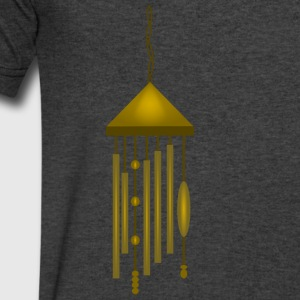 Big Bronze Wind Chime--DIGITAL DIRECT PRINT Long Sleeve Shirts - Men's V-Neck T-Shirt by Canvas