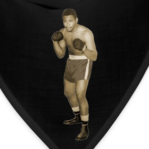Vintage African American Boxer in Boxing Pose T-Shirts - Bandana