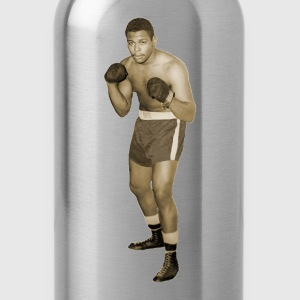 Vintage African American Boxer in Boxing Pose T-Shirts - Water Bottle