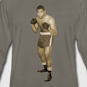 Vintage African American Boxer in Boxing Pose T-Shirts - Men's Premium Long Sleeve T-Shirt