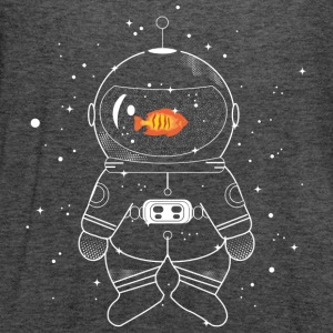 Astronaut with goldfish  T-Shirts - Women's Flowy Tank Top by Bella