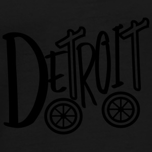 Big Detroit 'N Wheels Caps - Men's Premium T-Shirt