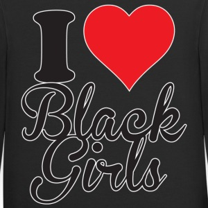 I Love Black Girl Zip Hoodies & Jackets - Contrast Hoodie