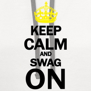 Keep Calm And Swag On Women's T-Shirts - Contrast Hoodie