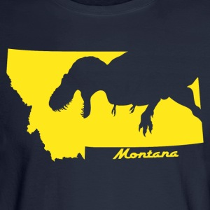 T.rex Montana Silhouette - Men's Long Sleeve T-Shirt