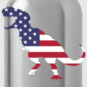 US Flag T.rex - Water Bottle