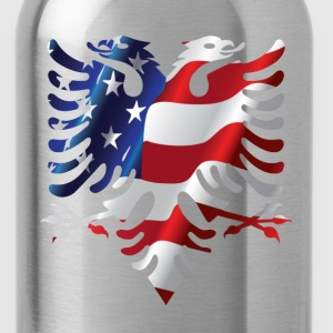 Albanian American Eagle T-Shirts - Water Bottle