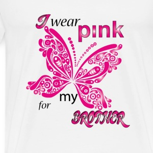 i wear pink for my Brother Hoodies - Men's Premium T-Shirt