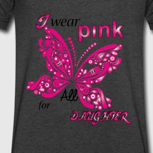 i wear pink for my daughter Long Sleeve Shirts - Men's V-Neck T-Shirt by Canvas