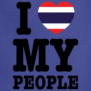 I Heart (Love) My Thai People Hoodies - Adjustable Apron