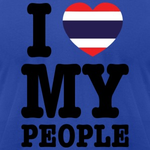 I Heart (Love) My Thai People Hoodies - Men's T-Shirt by American Apparel