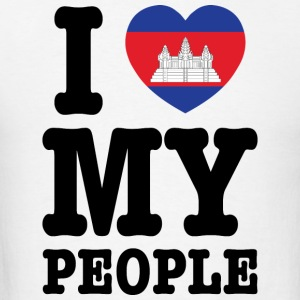 I Heart (Love) My Khmer People Tanks - Men's T-Shirt