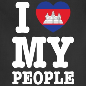 I Heart (Love) My Khmer People T-Shirts - Adjustable Apron