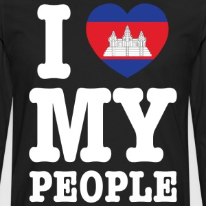 I Heart (Love) My Khmer People T-Shirts - Men's Premium Long Sleeve T-Shirt