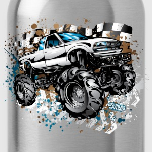Mud Truck Race Shirt Kids' Shirts - Water Bottle