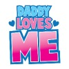 Daddy loves me! super cute baby design Women's T-Shirts - Women's V-Neck T-Shirt