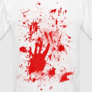 Splashes of blood / blood Smeared Hoodies - Men's T-Shirt
