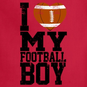 i_love_my_football_boy Women's T-Shirts - Adjustable Apron