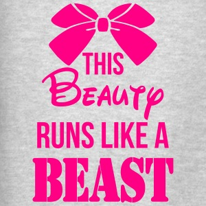 This Beauty Runs Like a Beast Tanks - Men's T-Shirt