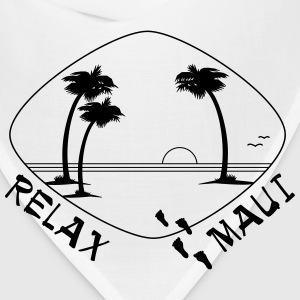 Relax Maui - single color print - Bandana