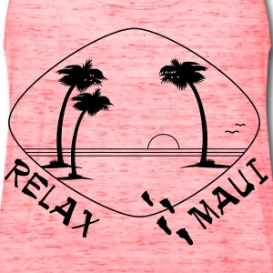 Relax Maui - single color print - Women's Flowy Tank Top by Bella
