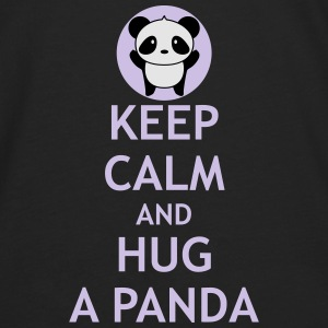 Keep Calm and Hug a Panda - Men's Premium Long Sleeve T-Shirt