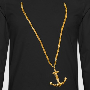 Gold Chain and Anchor - Men's Premium Long Sleeve T-Shirt