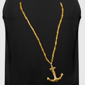 Gold Chain and Anchor - Men's Premium Tank