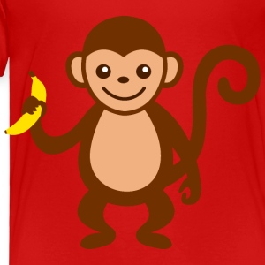 Monkey with Banana.png Kids' Shirts - Toddler Premium T-Shirt