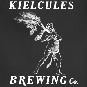 Kielcules Brewing Co. White on Black - Adjustable Apron
