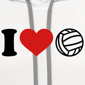 I love Water polo Women's T-Shirts - Contrast Hoodie