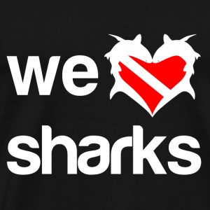 We Love Sharks Tanks - Men's Premium T-Shirt
