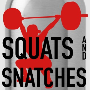 Squats And Snatches Barbell Women's T-Shirts - Water Bottle