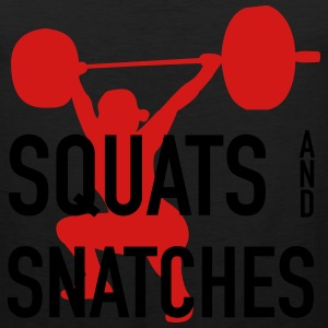 Squats And Snatches Barbell Women's T-Shirts - Men's Premium Tank