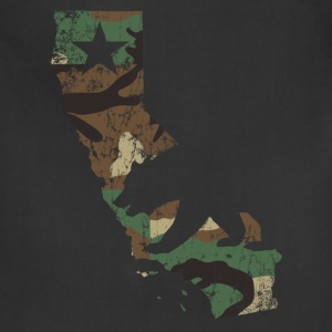 Camo California State Bear Flag Women's T-Shirts - Adjustable Apron