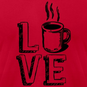 Love Coffee Java Cute Shirts Apparel Tanks - Men's T-Shirt by American Apparel