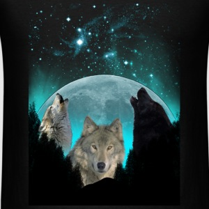 Wolves Twilight Harvest Moon  Sweatshirts - Men's T-Shirt