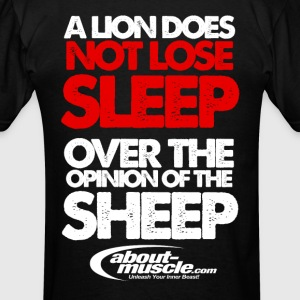 A Lion Does Not Lose Sleep Over The Opinion Hoodies - Men's T-Shirt
