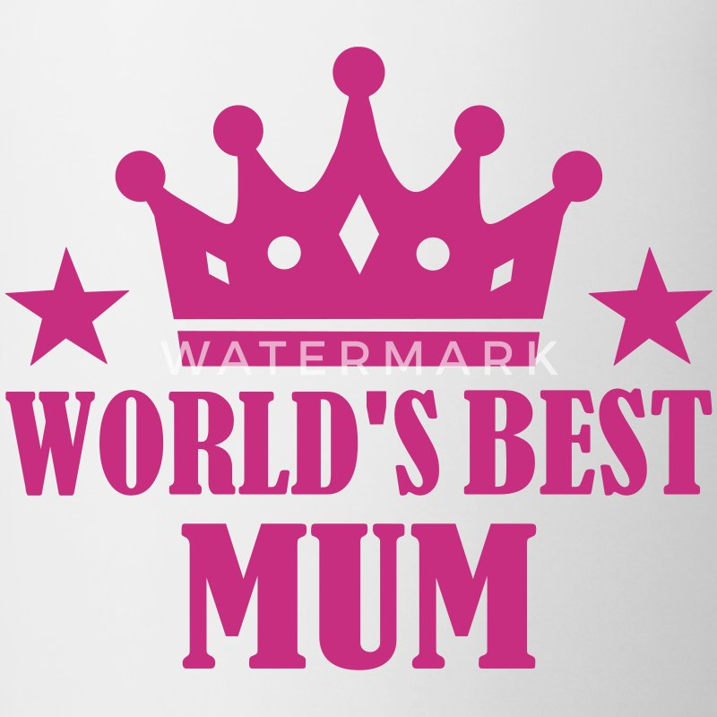 World's Best Mum Bottles & Mugs - Contrast Coffee Mug
