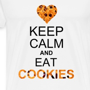 keep calm and eat cookies Baby & Toddler Shirts - Men's Premium T-Shirt