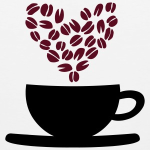 Coffee Cup and Beans T-Shirts - Men's Premium Tank