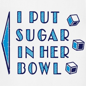 sugar in bowl - for men T-Shirts - Adjustable Apron