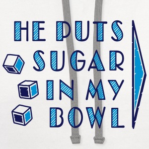sugar in bowl - for women Women's T-Shirts - Contrast Hoodie