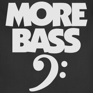 MORE BASS T-Shirt (Men's black) - Adjustable Apron