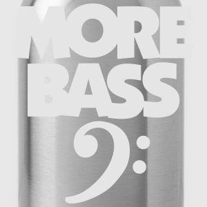 MORE BASS T-Shirt (Men's black) - Water Bottle