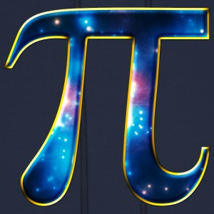 Pi π Symbol Math Mathematics Universe Galaxy Space T-Shirts - Men's Hoodie