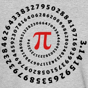 Math, Pi, π, Mathématiques spirale, nombre irratio T-Shirts - Men's Long Sleeve T-Shirt